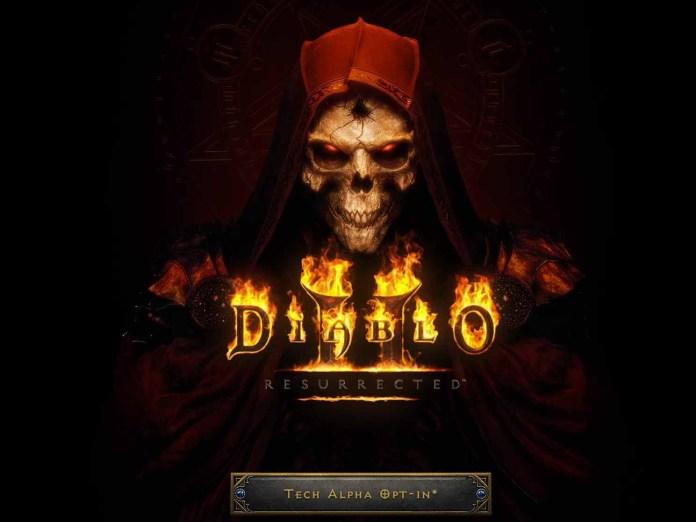 Diablo 2 Resurrected Tech Alpha Button