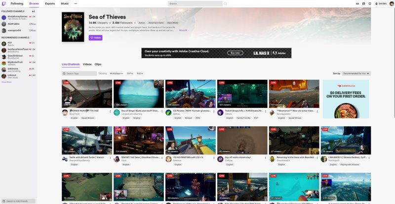 Sea Of Thieves Twitch