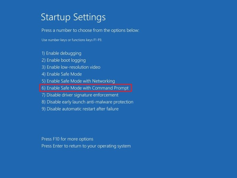 Enable Safe Mode Command Prompt