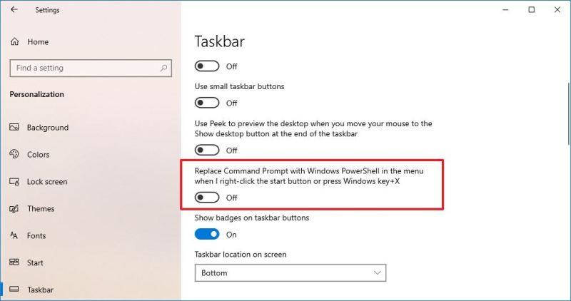Enable CMD on Quick Link menu