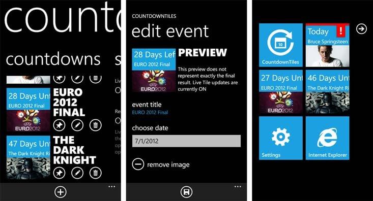 Windows Phone App Review: Countdown Tiles   Windows Central