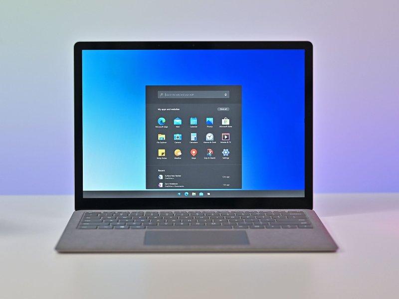 Windows 10X Mock Laptop Dark
