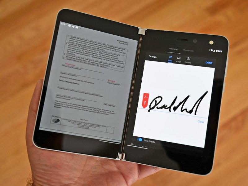 Surface Duo Adobe Acrobat