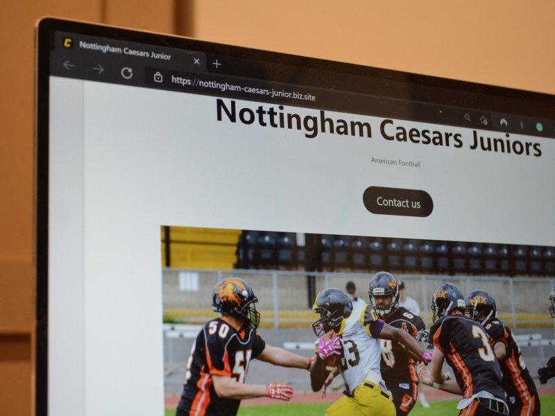 Caesars Juniors Mock Website