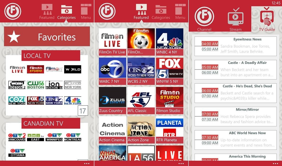 Peek filmon streaming tv app for windows phone 8 windows central