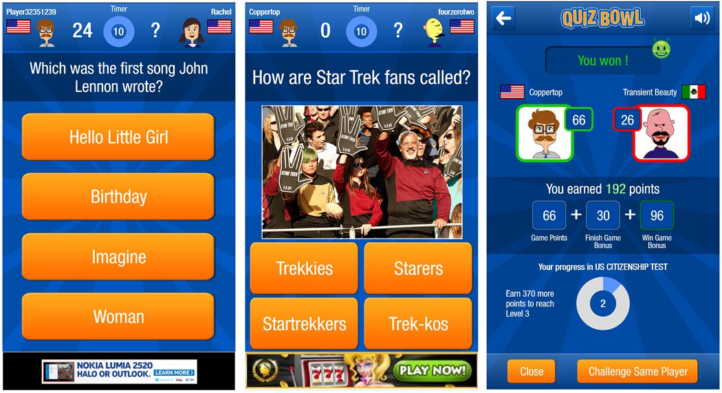 Quiz Bowl An Online Trivia Game For Windows Phone 8