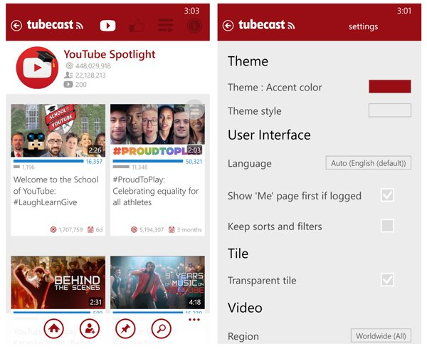 Tubecast A Nifty Windows Phone YouTube App For Casting To