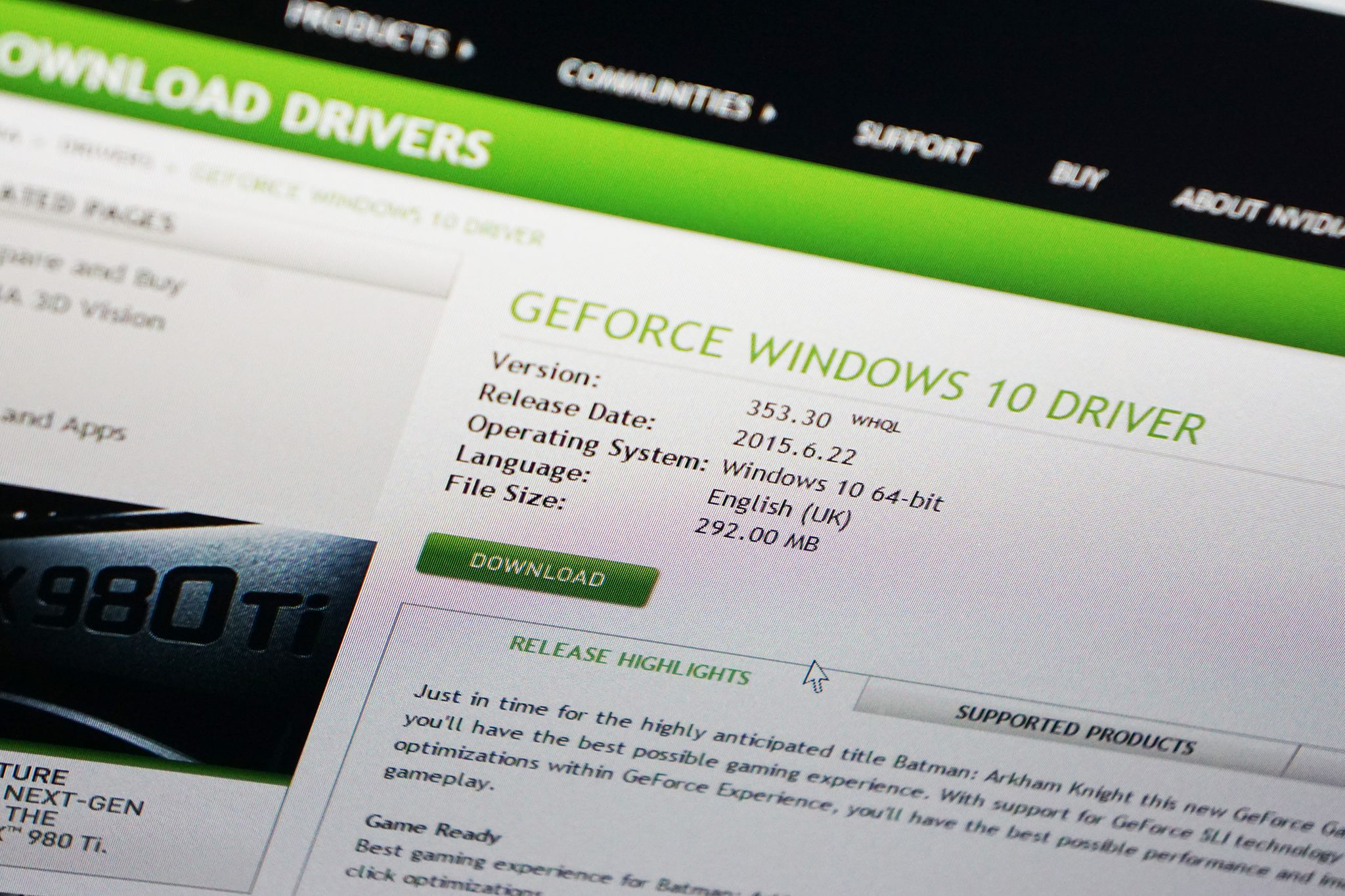 Best Nvidia Driver For Windows 10