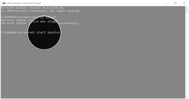 Type net start spooler and hit Enter.