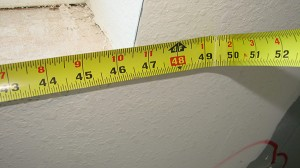 measure length along front of opening