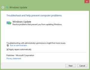 Windows update troubleshooter 0x800705b4 Error 2