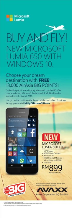Lumia 650 Store Promotion