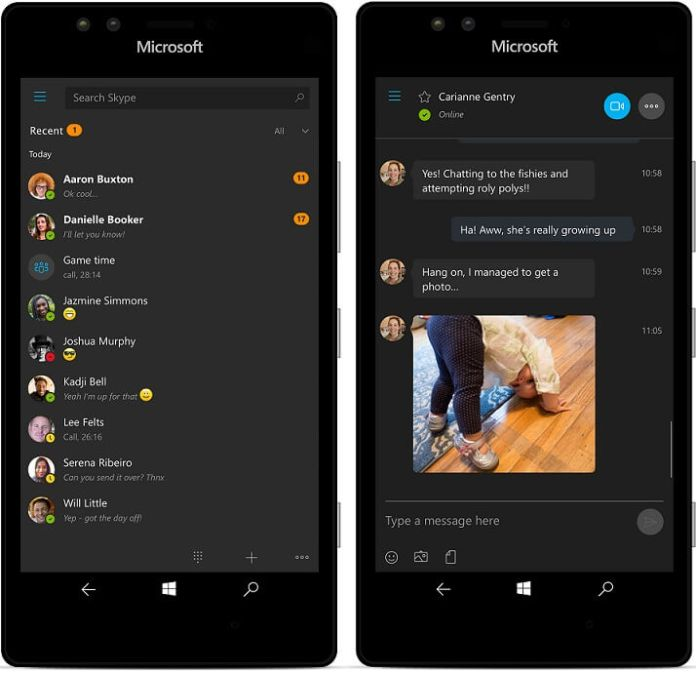 Skype for windows 10 and windows 10 mobile updated to new for Latest windows version