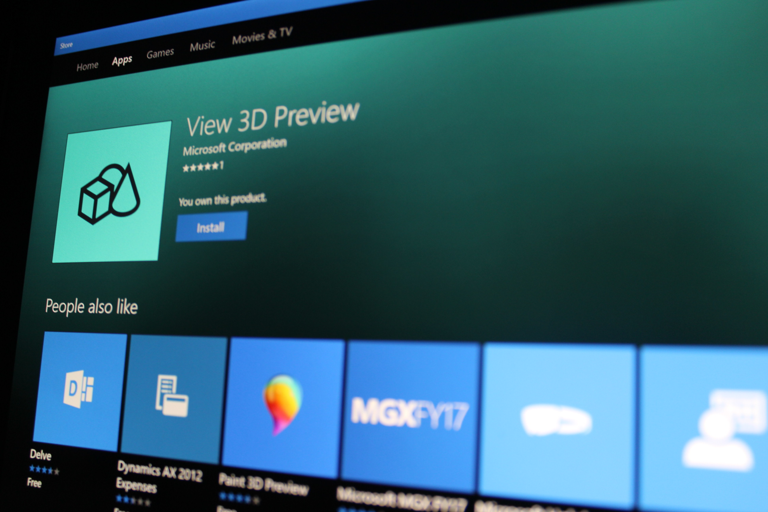 microsoft releases view 3d preview app let you see your 3d models. Black Bedroom Furniture Sets. Home Design Ideas