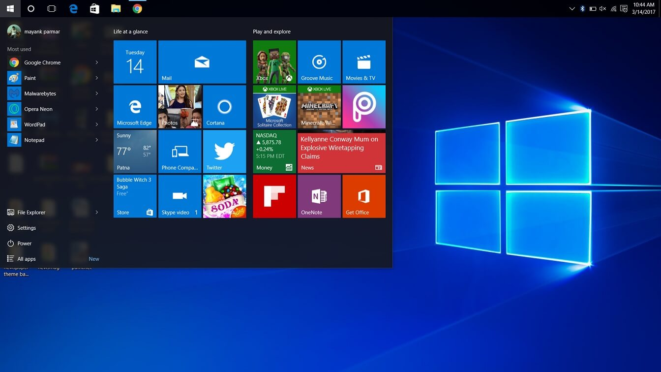 Build 15061 for windows 10 now available for pc insiders for Windows 10 pc