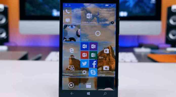 Windows 10 Mobile on Lumia 950