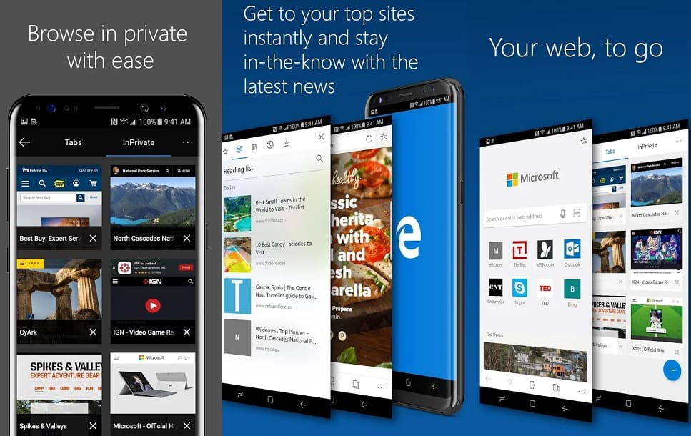 Microsoft Edge for Android preview is now available in the Play store