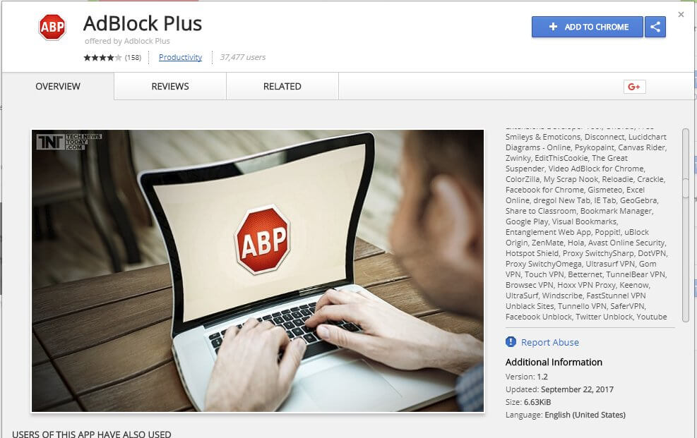 Fake AdBlock Plus extension for Chrome tricks 37000 users""