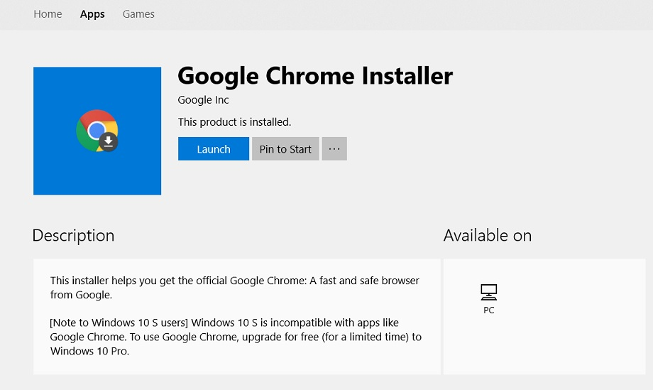 Google Chrome hits the Microsoft Store for Windows, but it's just an installer…