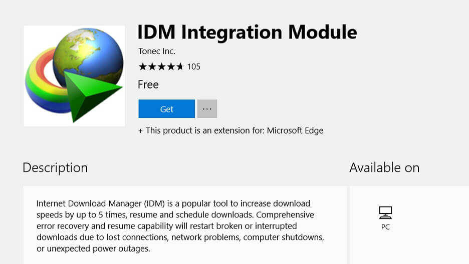 Internet download manager idm extension for microsoft edge is internet download manager idm extension for microsoft edge is now available stopboris Choice Image