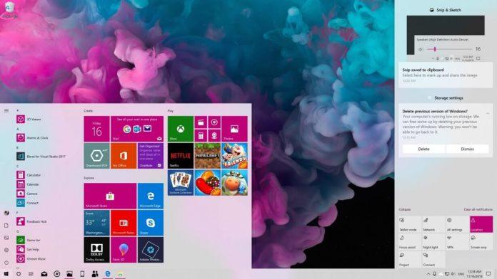 Windows 10のアクションセンターライトルック