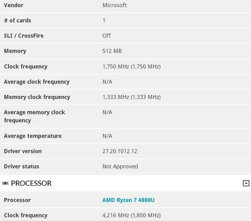 Surface Laptop 4 benchmark