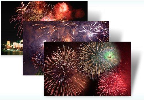 Windows 7 Fireworks Theme