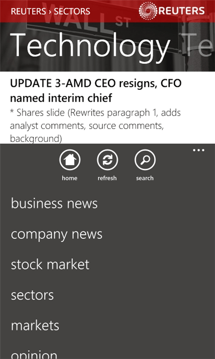 Reuters Finance App