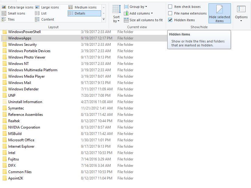 how-to-access-windowsapps-folder-in-windows-10