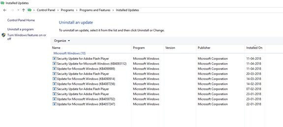Driver updates in Windows 10