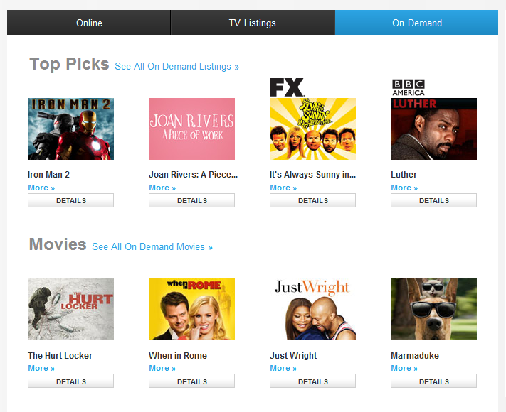 Offers your on demand choices online for Tv on demand