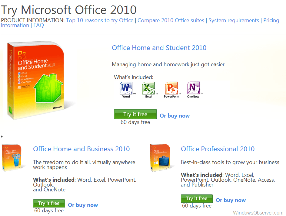 Update: Download 60 Day Trial of Microsoft Office 2010 ...