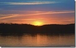 Sunrise on the Ohio River, California, Kentucky, U.S.