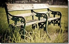 Park bench at Victoria Memorial, Kolkata, India