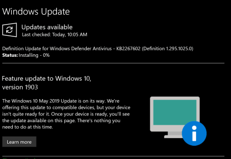 Windows 10 May 2019 Update Roll-out Expands with AI