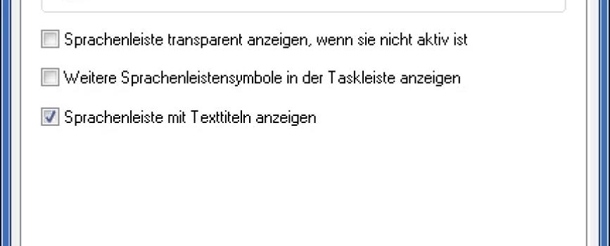 Windows 7: Sprachauswahl aus der Taskleiste entfernen 0