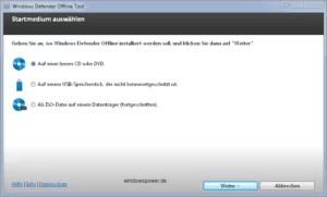 windows defender cd dvd erstellen