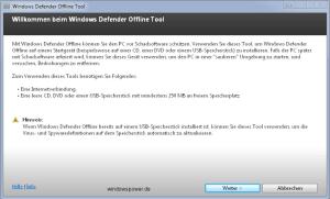 Mit Windows Defender Offline Rettungs-CD/DVD Viren, Schadsoftware, Rootkits entfernen 0