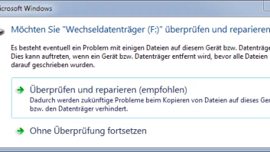 """Photo of Möchten Sie """"Wechseldatenträger (X:)"""" überprüfen und reparieren?"""