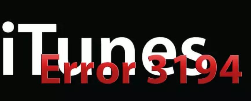 Error 3194 iTunes update iPhone/iPad/iPod 0