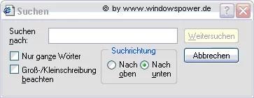 Text auf einer Webseite suchen 0