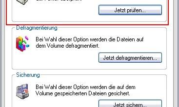 ScanDisk / CheckDisk mit Windows XP 0