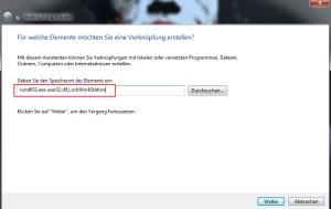 Desktop sperren Verknüpfung auf den Desktop anlegen 1