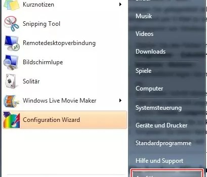 Windows 7 verstecktes Packprogramm 0