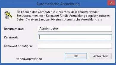 Ohne Passworteingabe anmelden unter Windows 8 0