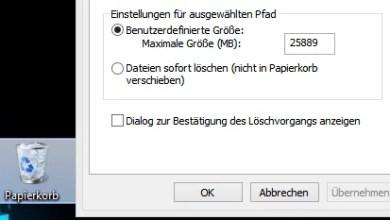 Photo of Windows 8 Datei löschen Abfrage widerherstellen