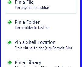 Alle Dateien an die Taskbar anheften Windows 7 & 8 0