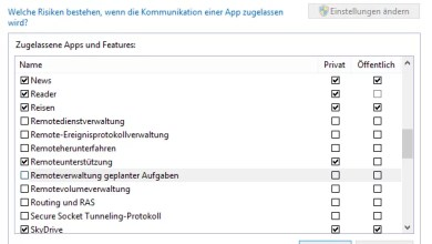 Photo of Kommunikation von Apps Einstellungen ändern Windows 8
