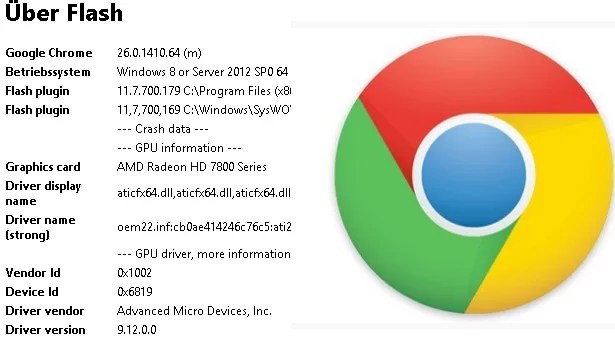 Chrome: Welche Flash-Version ist installiert? 0