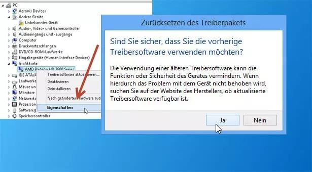Windows 8 – einen älteren Treiber wiederverwenden 0